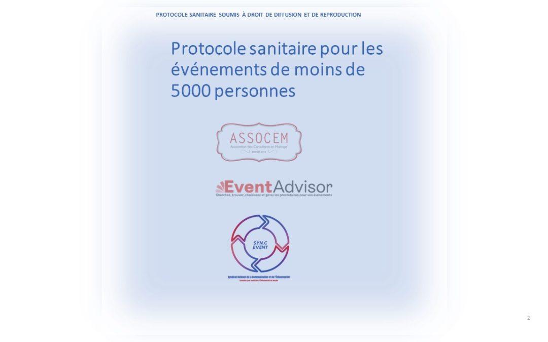 Un protocole événementiel pour les événements de moins de 5 000 personnes transmis au gouvernement